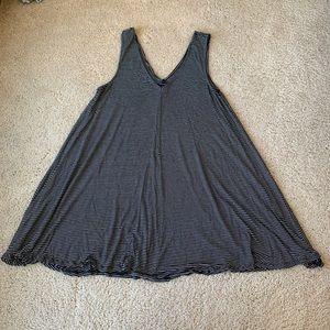 American Eagle Black & White Striped Tank Dress